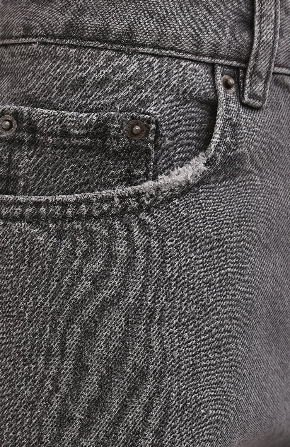 Женские джинсовые шорты KSUBI серого цвета, арт. 5000006254 | Фото 5 (Женское Кросс-КТ: Шорты-одежда; Кросс-КТ: Деним; Длина Ж (юбки, платья, шорты): Мини; Стили: Гранж; Материал внешний: Хлопок)