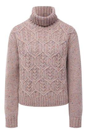 Женский кашемировый свитер LORO PIANA светло-розового цвета, арт. FAL8411 | Фото 1 (Материал внешний: Кашемир, Шерсть; Длина (для топов): Стандартные; Рукава: Длинные; Женское Кросс-КТ: Свитер-одежда; Стили: Кэжуэл)