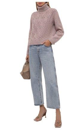 Женский кашемировый свитер LORO PIANA светло-розового цвета, арт. FAL8411 | Фото 2 (Материал внешний: Кашемир, Шерсть; Длина (для топов): Стандартные; Рукава: Длинные; Женское Кросс-КТ: Свитер-одежда; Стили: Кэжуэл)