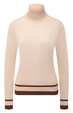 Женская кашемировая водолазка LORO PIANA светло-бежевого цвета, арт. FAL7700 | Фото 1 (Длина (для топов): Стандартные; Материал внешний: Шерсть, Кашемир; Рукава: Длинные; Женское Кросс-КТ: Водолазка-одежда; Стили: Кэжуэл)