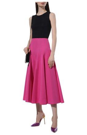 Женские комбинированные туфли GIANVITO ROSSI разноцветного цвета, арт. G95359.15RIC.PLMVISU   Фото 2 (Материал внутренний: Натуральная кожа; Материал внешний: Экокожа; Каблук высота: Высокий; Подошва: Плоская; Каблук тип: Шпилька)
