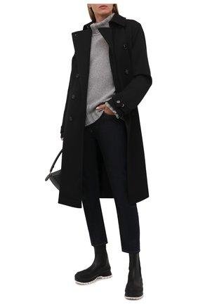 Женские комбинированные ботинки STELLA MCCARTNEY черно-белого цвета, арт. 800397/N0242 | Фото 2 (Каблук высота: Низкий; Материал внешний: Экокожа, Текстиль; Подошва: Платформа; Материал внутренний: Текстиль; Женское Кросс-КТ: Челси-ботинки)