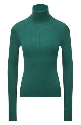 Женская водолазка из кашемира и шелка DOLCE & GABBANA изумрудного цвета, арт. FX492T/JAMA1   Фото 1 (Материал внешний: Шелк, Кашемир, Шерсть; Длина (для топов): Стандартные; Рукава: Длинные; Женское Кросс-КТ: Водолазка-одежда; Стили: Кэжуэл)