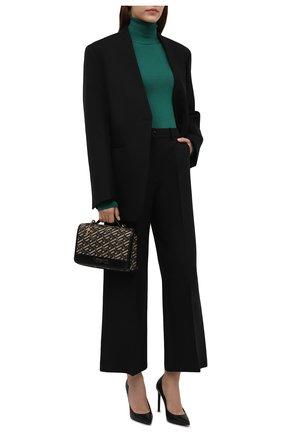 Женская водолазка из кашемира и шелка DOLCE & GABBANA изумрудного цвета, арт. FX492T/JAMA1   Фото 2 (Материал внешний: Шелк, Кашемир, Шерсть; Длина (для топов): Стандартные; Рукава: Длинные; Женское Кросс-КТ: Водолазка-одежда; Стили: Кэжуэл)