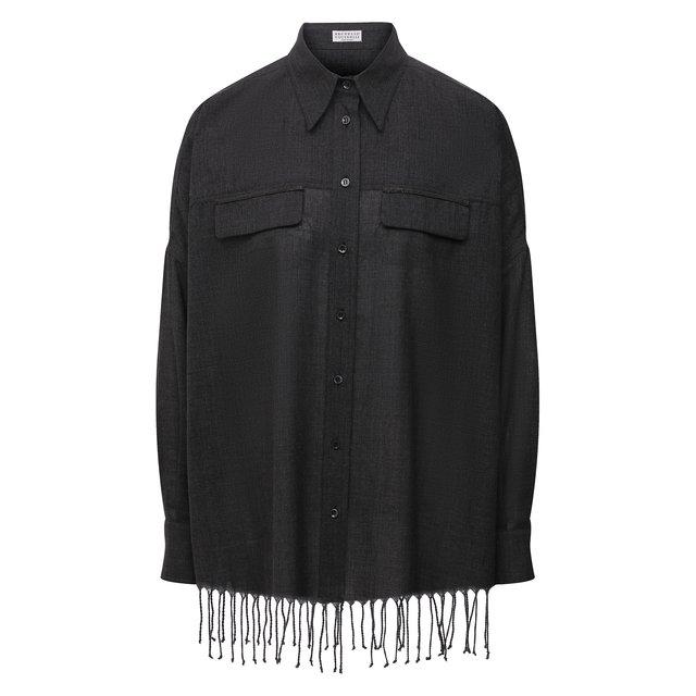 Шерстяная рубашка Brunello Cucinelli