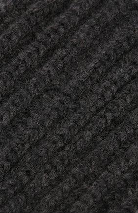 Женские кашемировые носки BRUNELLO CUCINELLI темно-серого цвета, арт. M52502569 | Фото 2 (Материал внешний: Кашемир, Шерсть)