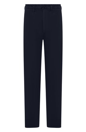 Мужские хлопковые брюки STONE ISLAND темно-синего цвета, арт. 7515315L1 | Фото 1 (Материал внешний: Хлопок; Длина (брюки, джинсы): Стандартные; Случай: Повседневный; Стили: Кэжуэл; Силуэт М (брюки): Чиносы)