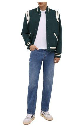 Мужская хлопковая футболка ACNE STUDIOS белого цвета, арт. BL0230   Фото 2 (Материал внешний: Хлопок; Рукава: Короткие; Длина (для топов): Стандартные; Принт: Без принта; Стили: Минимализм)