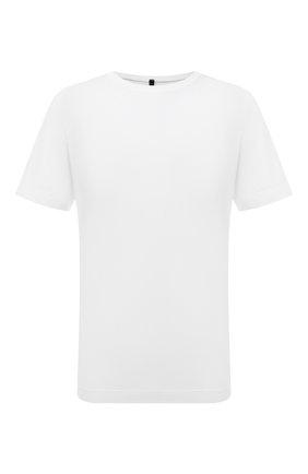 Мужская хлопковая футболка TRANSIT белого цвета, арт. CFUTRP1364   Фото 1 (Материал внешний: Хлопок; Длина (для топов): Стандартные; Рукава: Короткие; Принт: Без принта; Стили: Кэжуэл)