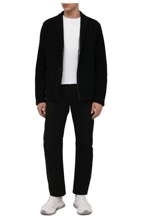 Мужская хлопковая футболка TRANSIT белого цвета, арт. CFUTRP1364   Фото 2 (Материал внешний: Хлопок; Длина (для топов): Стандартные; Рукава: Короткие; Принт: Без принта; Стили: Кэжуэл)