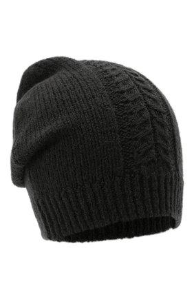 Мужская шерстяная шапка TRANSIT темно-серого цвета, арт. HATUTRP19545   Фото 1 (Материал: Шерсть; Кросс-КТ: Трикотаж)