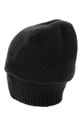 Мужская шерстяная шапка TRANSIT темно-серого цвета, арт. HATUTRP19545   Фото 2 (Материал: Шерсть; Кросс-КТ: Трикотаж)