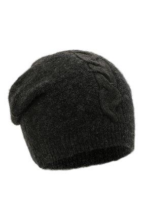 Мужская шапка из шерсти и вискозы TRANSIT темно-серого цвета, арт. HATUTRP21565   Фото 1 (Материал: Шерсть; Кросс-КТ: Трикотаж)