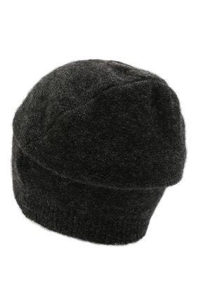 Мужская шапка из шерсти и вискозы TRANSIT темно-серого цвета, арт. HATUTRP21565   Фото 2 (Материал: Шерсть; Кросс-КТ: Трикотаж)