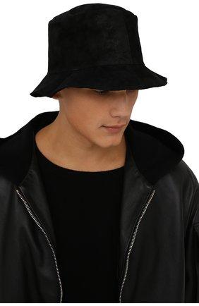 Мужская панама из шерсти и кожи TRANSIT черного цвета, арт. HATUTRP5001 | Фото 2 (Материал: Шерсть)