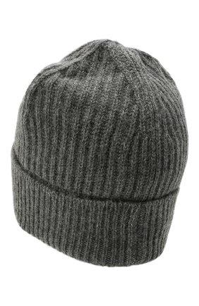Мужская шерстяная шапка MAISON MARGIELA серого цвета, арт. S50TC0053/S17849 | Фото 2 (Материал: Шерсть; Кросс-КТ: Трикотаж)