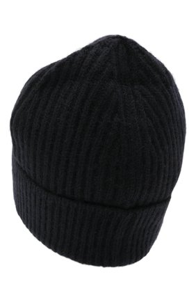 Мужская шерстяная шапка MAISON MARGIELA темно-синего цвета, арт. S50TC0053/S17849 | Фото 2 (Материал: Шерсть; Кросс-КТ: Трикотаж)