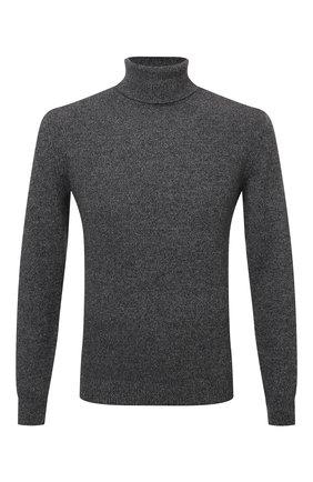 Мужской кашемировый свитер CORNELIANI темно-серого цвета, арт. 88M542-1825166/00 | Фото 1 (Материал внешний: Кашемир, Шерсть; Рукава: Длинные; Длина (для топов): Стандартные; Мужское Кросс-КТ: Свитер-одежда; Принт: Без принта; Стили: Кэжуэл)