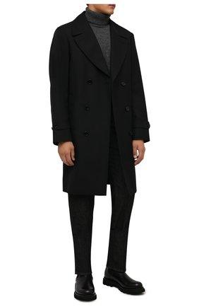 Мужской кашемировый свитер CORNELIANI темно-серого цвета, арт. 88M542-1825166/00 | Фото 2 (Материал внешний: Кашемир, Шерсть; Рукава: Длинные; Длина (для топов): Стандартные; Мужское Кросс-КТ: Свитер-одежда; Принт: Без принта; Стили: Кэжуэл)