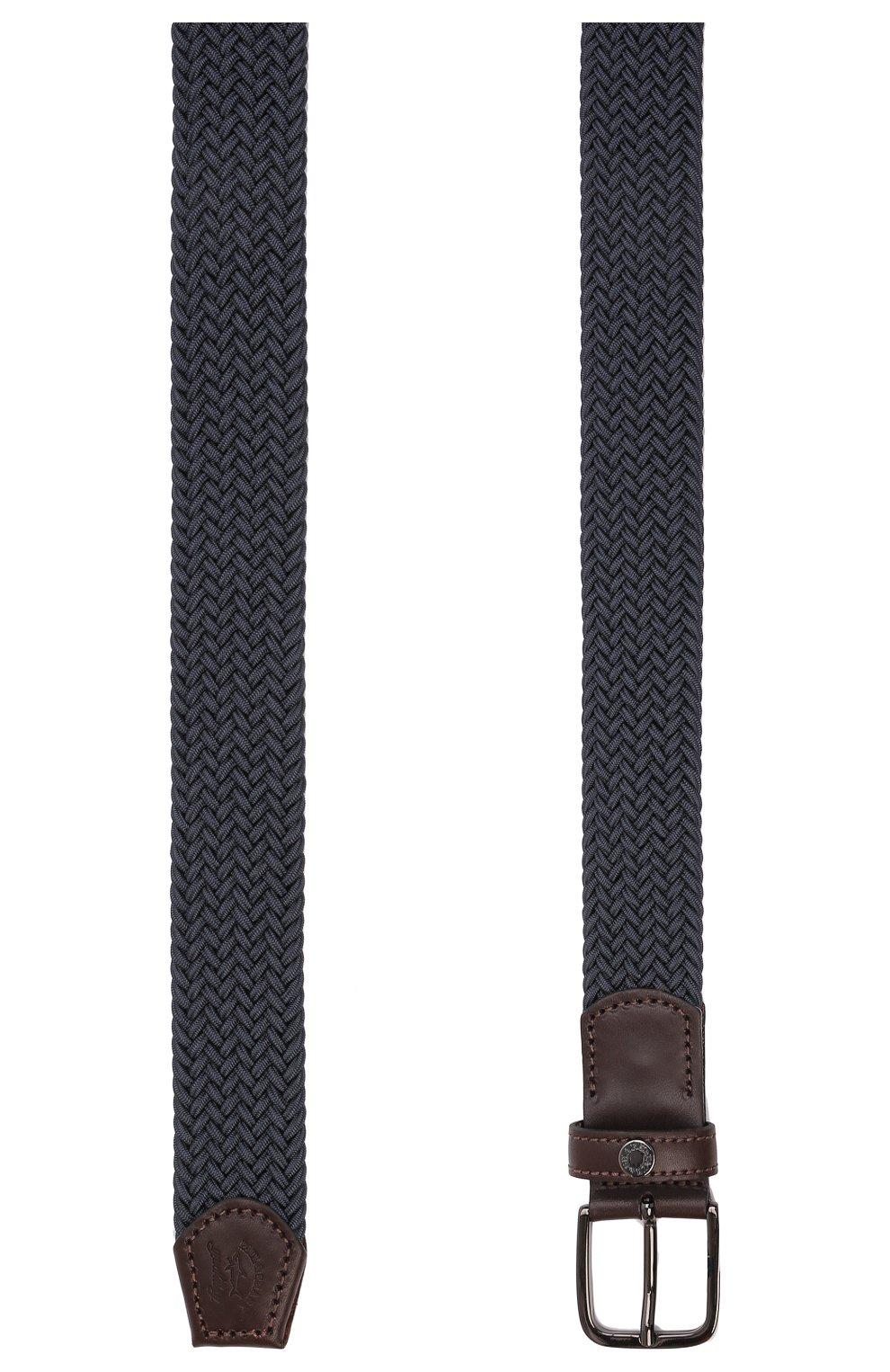 Мужской ремень PAUL&SHARK синего цвета, арт. 11316000/IEW | Фото 3 (Материал: Текстиль, Резина; Случай: Повседневный)