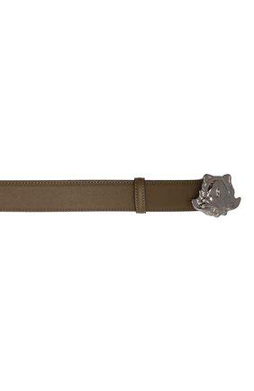 Мужской кожаный ремень VERSACE хаки цвета, арт. 1001340/1A00593   Фото 4 (Случай: Повседневный)
