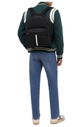 Мужской кожаный рюкзак mavrick BALLY черного цвета, арт. MAVRICK/00 | Фото 2 (Материал: Натуральная кожа)