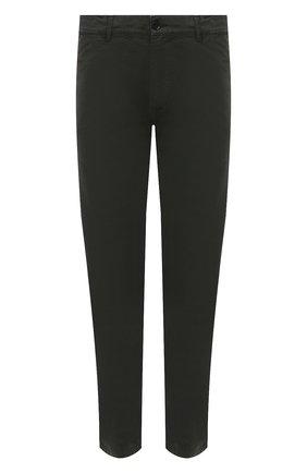 Мужские хлопковые брюки ASPESI хаки цвета, арт. W1 A CP42 A263 ST | Фото 1 (Материал внешний: Хлопок; Длина (брюки, джинсы): Стандартные; Случай: Повседневный; Стили: Милитари; Силуэт М (брюки): Чиносы)