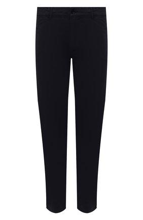 Мужские хлопковые брюки ASPESI темно-синего цвета, арт. W1 A CP42 A263 ST | Фото 1 (Длина (брюки, джинсы): Стандартные; Материал внешний: Хлопок; Случай: Повседневный; Стили: Кэжуэл; Силуэт М (брюки): Чиносы)