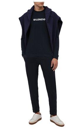 Мужские хлопковые брюки ASPESI темно-синего цвета, арт. W1 A CP42 A263 ST | Фото 2 (Длина (брюки, джинсы): Стандартные; Материал внешний: Хлопок; Случай: Повседневный; Стили: Кэжуэл; Силуэт М (брюки): Чиносы)