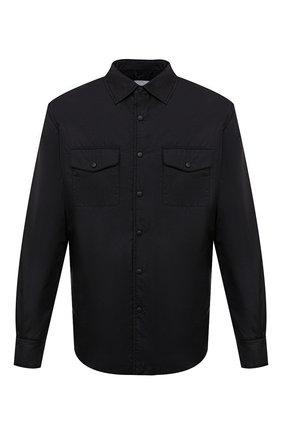 Мужская утепленная куртка-рубашка ASPESI черного цвета, арт. W1 I I029 7961 | Фото 1 (Материал подклада: Синтетический материал; Рукава: Длинные; Материал внешний: Синтетический материал; Длина (верхняя одежда): Короткие; Кросс-КТ: Куртка; Мужское Кросс-КТ: утепленные куртки; Стили: Кэжуэл)