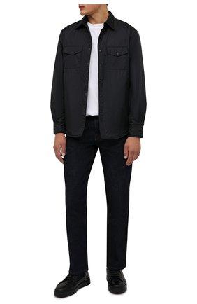 Мужская утепленная куртка-рубашка ASPESI черного цвета, арт. W1 I I029 7961 | Фото 2 (Материал подклада: Синтетический материал; Рукава: Длинные; Материал внешний: Синтетический материал; Длина (верхняя одежда): Короткие; Кросс-КТ: Куртка; Мужское Кросс-КТ: утепленные куртки; Стили: Кэжуэл)