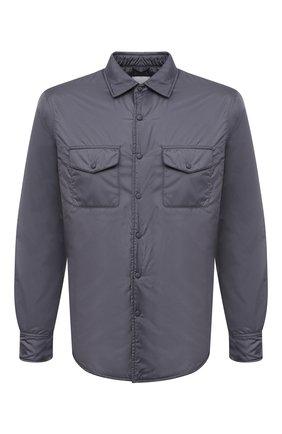 Мужская утепленная куртка-рубашка ASPESI серого цвета, арт. W1 I I029 7961 | Фото 1 (Материал внешний: Синтетический материал; Рукава: Длинные; Длина (верхняя одежда): Короткие; Материал подклада: Синтетический материал; Кросс-КТ: Куртка; Мужское Кросс-КТ: утепленные куртки; Стили: Кэжуэл)