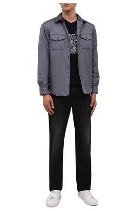 Мужская утепленная куртка-рубашка ASPESI серого цвета, арт. W1 I I029 7961 | Фото 2 (Материал внешний: Синтетический материал; Рукава: Длинные; Длина (верхняя одежда): Короткие; Материал подклада: Синтетический материал; Кросс-КТ: Куртка; Мужское Кросс-КТ: утепленные куртки; Стили: Кэжуэл)