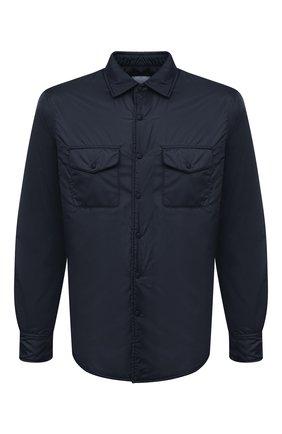 Мужская утепленная куртка-рубашка ASPESI темно-синего цвета, арт. W1 I I029 7961 | Фото 1 (Рукава: Длинные; Длина (верхняя одежда): Короткие; Материал внешний: Синтетический материал; Материал подклада: Синтетический материал; Кросс-КТ: Куртка; Мужское Кросс-КТ: утепленные куртки; Стили: Кэжуэл)