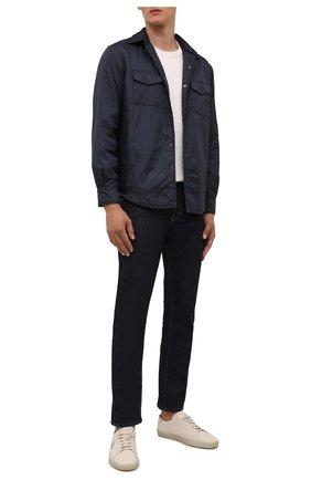Мужская утепленная куртка-рубашка ASPESI темно-синего цвета, арт. W1 I I029 7961 | Фото 2 (Рукава: Длинные; Длина (верхняя одежда): Короткие; Материал внешний: Синтетический материал; Материал подклада: Синтетический материал; Кросс-КТ: Куртка; Мужское Кросс-КТ: утепленные куртки; Стили: Кэжуэл)