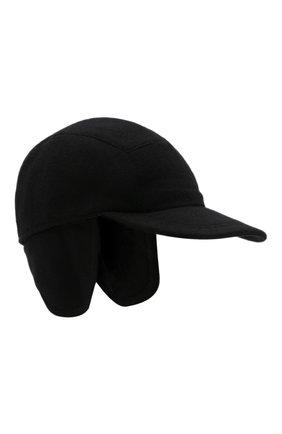 Мужской кашемировая бейсболка  SVEVO черного цвета, арт. 01041SA21/MP01/2 | Фото 1 (Материал: Кашемир, Шерсть)