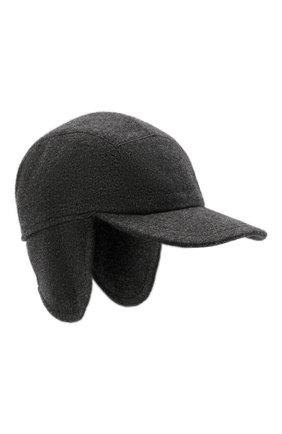 Мужской кашемировая бейсболка  SVEVO темно-серого цвета, арт. 01041SA21/MP01/2 | Фото 1 (Материал: Шерсть, Кашемир)