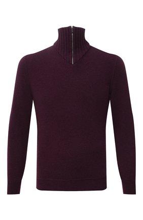 Мужской кашемировый свитер SVEVO фиолетового цвета, арт. 01037SA21/MP01/2 | Фото 1 (Материал внешний: Шерсть, Кашемир; Рукава: Длинные; Длина (для топов): Стандартные; Мужское Кросс-КТ: Свитер-одежда; Принт: Без принта; Стили: Кэжуэл)