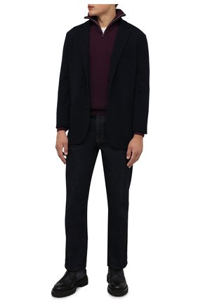 Мужской кашемировый свитер SVEVO фиолетового цвета, арт. 01037SA21/MP01/2 | Фото 2 (Материал внешний: Шерсть, Кашемир; Рукава: Длинные; Длина (для топов): Стандартные; Мужское Кросс-КТ: Свитер-одежда; Принт: Без принта; Стили: Кэжуэл)