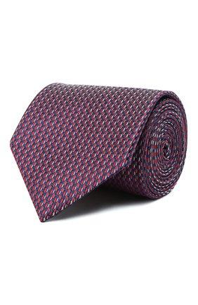 Мужской шелковый галстук BRIONI красного цвета, арт. 062I00/01427   Фото 1 (Материал: Текстиль, Шелк; Принт: С принтом)