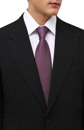Мужской шелковый галстук BRIONI красного цвета, арт. 062I00/01427   Фото 2 (Материал: Текстиль, Шелк; Принт: С принтом)