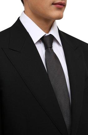 Мужской шелковый галстук BRIONI темно-зеленого цвета, арт. 062H00/01442 | Фото 2 (Материал: Текстиль, Шелк; Принт: Без принта)