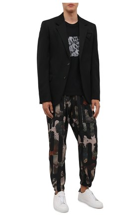 Мужская хлопковая футболка SAINT LAURENT черного цвета, арт. 665271/Y36HP | Фото 2 (Рукава: Короткие; Длина (для топов): Стандартные; Материал внешний: Хлопок; Принт: С принтом; Стили: Кэжуэл)