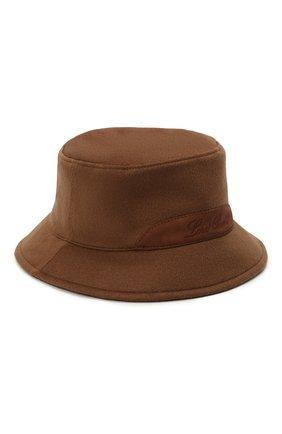 Мужская кашемировая панама LORO PIANA светло-коричневого цвета, арт. FAL9575 | Фото 1 (Материал: Кашемир, Шерсть)