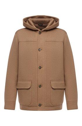 Мужская шерстяная куртка LORO PIANA светло-коричневого цвета, арт. FAL7134 | Фото 1 (Длина (верхняя одежда): Короткие; Рукава: Длинные; Материал внешний: Шерсть; Кросс-КТ: Куртка; Мужское Кросс-КТ: шерсть и кашемир; Стили: Кэжуэл)