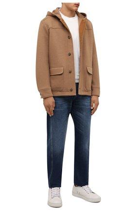 Мужская шерстяная куртка LORO PIANA светло-коричневого цвета, арт. FAL7134 | Фото 2 (Длина (верхняя одежда): Короткие; Рукава: Длинные; Материал внешний: Шерсть; Кросс-КТ: Куртка; Мужское Кросс-КТ: шерсть и кашемир; Стили: Кэжуэл)
