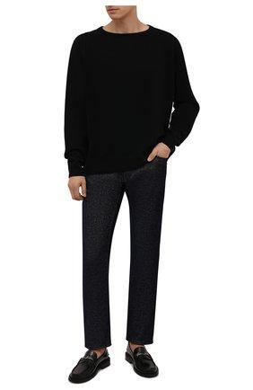 Мужские джинсы GIORGIO ARMANI темно-синего цвета, арт. 6KSJ15/SD1UZ   Фото 2 (Длина (брюки, джинсы): Стандартные; Материал внешний: Хлопок; Кросс-КТ: Деним; Силуэт М (брюки): Прямые; Стили: Кэжуэл)