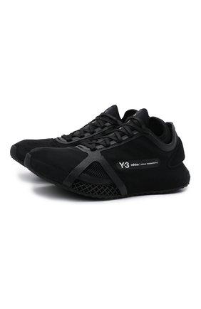 Мужские кроссовки runner 4d iow Y-3 черного цвета, арт. GZ9141/M | Фото 1 (Материал внешний: Текстиль; Материал внутренний: Текстиль; Подошва: Массивная; Стили: Спорт)