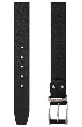 Мужской кожаный ремень ZILLI черного цвета, арт. MJL-CLAQE-01805/0076 | Фото 3 (Случай: Формальный)