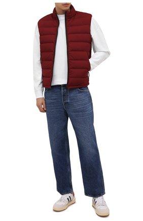Мужской пуховый жилет ERMENEGILDO ZEGNA красного цвета, арт. UYT35/Y121B   Фото 2 (Материал подклада: Синтетический материал; Материал утеплителя: Пух и перо; Материал внешний: Синтетический материал; Кросс-КТ: Куртка, Пуховик; Стили: Спорт-шик; Длина (верхняя одежда): Короткие)